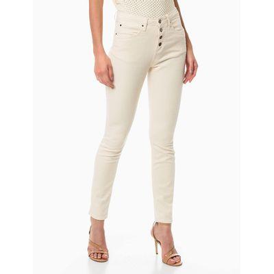 Calça Color 5 Pockets High Rise Skinny - Off-White