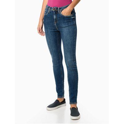 Calça Jeans 5 Pockets High Rise Skinny - Azul Médio