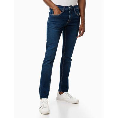Calca Jeans Five Pockets Super Skinny - Azul Marinho