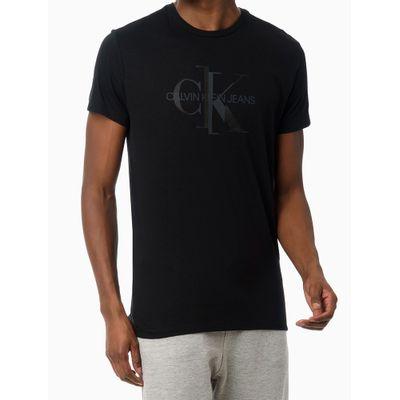 Camiseta Mc Ckj Masc Reissue Desencaixe - Preto