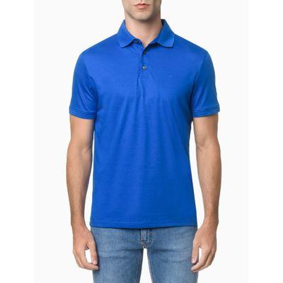 Polo Básica Liquid Cotton - Azul Médio