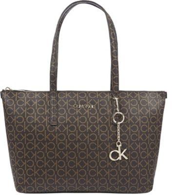 Shopping Bag Monograma - Marrom