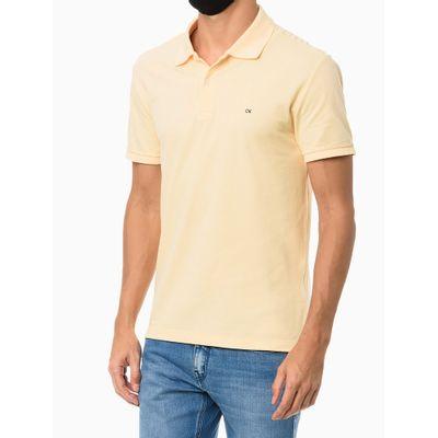 Polo Mc Slim Básica Sem Friso - Amarelo Claro