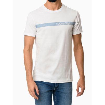 Camiseta Mc Institucional Faixa - Branco