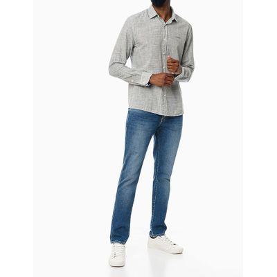 Calça Jeans Masculina Five Pockets Skinny Simples Azul Médio Calvin Klein