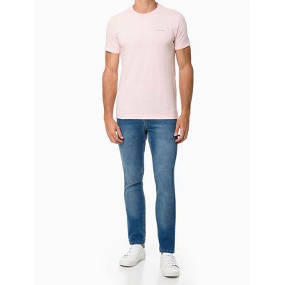 Camiseta Masculina Minimalista Rosa Claro Calvin Klein Jeans