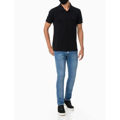 Calça Jeans Masculina Five Pockets Super Skinny Etiqueta Metalizada Azul Claro Calvin Klein