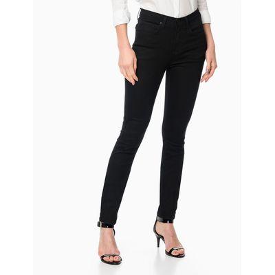 Calça Jeans 5 Pockets High Rise Skinny - Preto