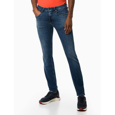 Calça Jeans Super Skinny Barra Dobrada - Azul Médio