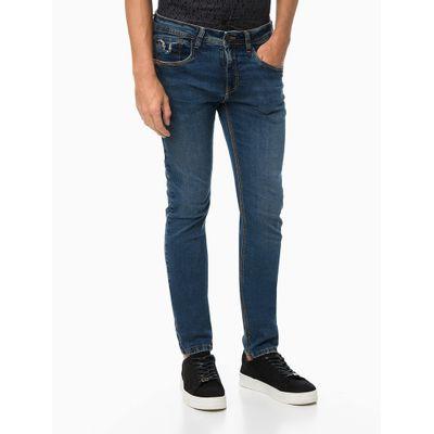 Calça Jeans Five Pockets Fili. Duplo - Azul Marinho