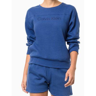 Blusão Recorte Horizontal Ck Gloss - Azul Médio