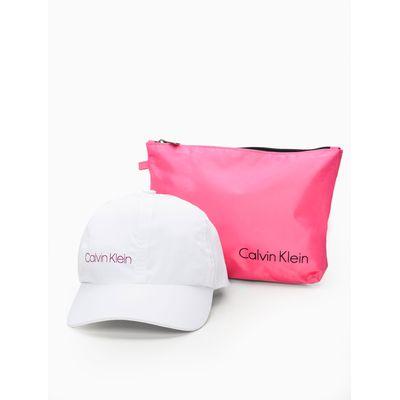Bone Swim Aba Curva 6 Gomos Nylon Logo V - Branco