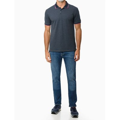 Calça Jeans Fivepckts Fili Duplo - Azul Marinho