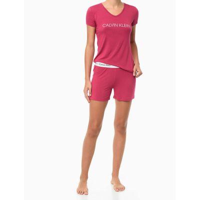 Pijama M/C E Short Viscolight - Roxo