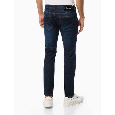 Calça Jeans Masculina Five Pockets Skinny Escura Azul Marinho Calvin Klein