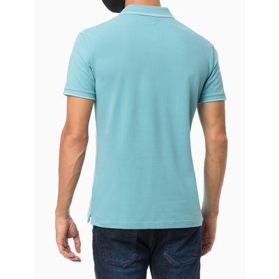 Polo Mc Regular Básica Com Friso - Azul Turquesa