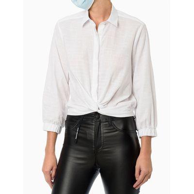 Camisa Com Nó - Branco