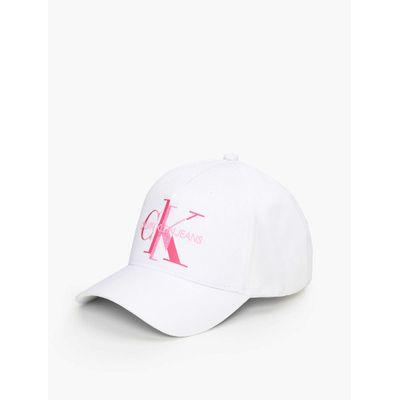 Boné Ckj Aba Curva 5 Gomos Nylon Logo V - Branco