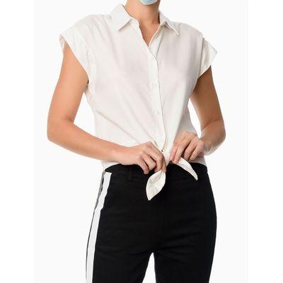 Camisa Sm Lyocel Nó - Off-White