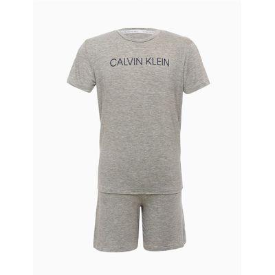 Pijama Infantil M/C E Bermuda Viscolight - Cinza Mescla