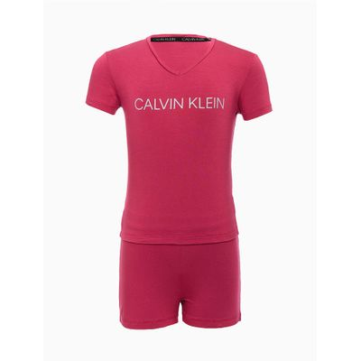 Pijama Infantil Menina M/C Short Viscoli - Roxo