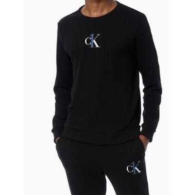 Blusão Gola Careca Ck Graphic Logo - Preto