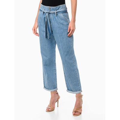 Calça Jeans Amarração - Azul Claro