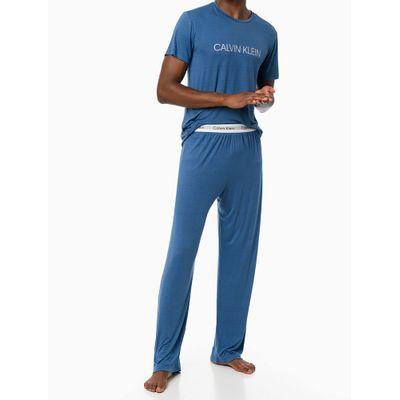 Pijama M/C E Calça Viscolight - Azul Médio