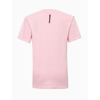 Tshirt Mc Mm Pig Logos Meio A Meio - Rosa Claro