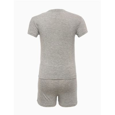 Pijama Infantil Menina M/C Short Viscoli - Cinza Mescla
