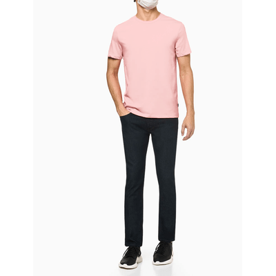 Camiseta Básica Liquid Cotton Dec Redond - Rosa Claro
