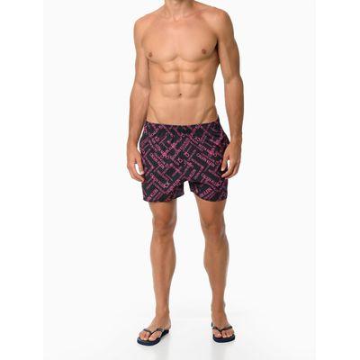 Shorts Elastico Estamp Logomania - Preto
