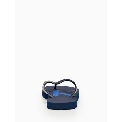 Chinelo Ckj Silk Borracha - Azul Marinho