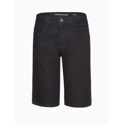 Bermuda Jeans Five Pockets Básica - Azul Marinho