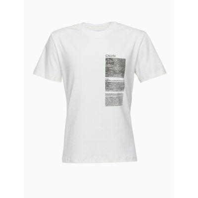 Camiseta Mc Reat Textur Geomet Frnt Cost - Off White