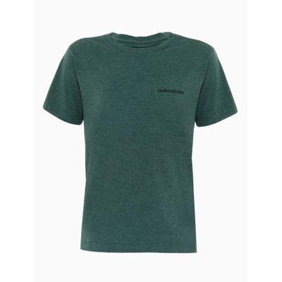 Camiseta Mc Silk Meia Reat Gc Mescl Sobr - Verde