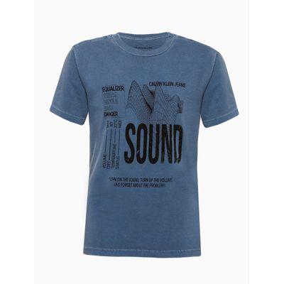 Camiseta Mc Silk Meia Pig Gc Sound - Azul Médio