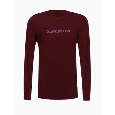 Camiseta Ml Reat Basica Calvin Peito - Bordô