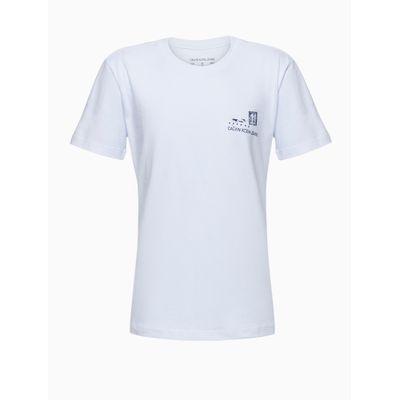 Camiseta Mc Reat Silk Frent E Cost Flor - Branco