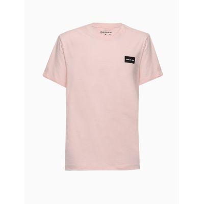 Camiseta Mc Reat Retang Calvin Peq Peito - Rosa Claro