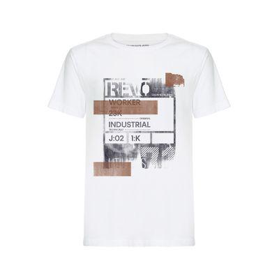 Camiseta Mc Reat Frente Retang Indust - Branco