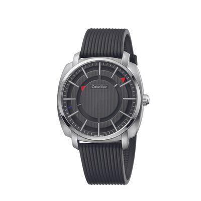 Relógio Calvin Klein Pulseira De Silicone Preto
